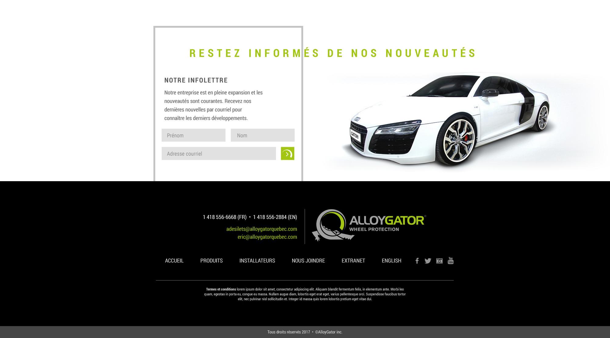 Conception de l'interface d'un site web