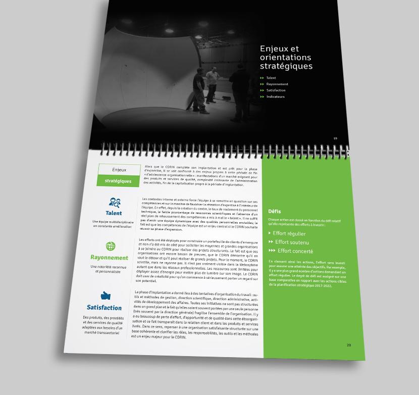 Conception d'une brochure corporative