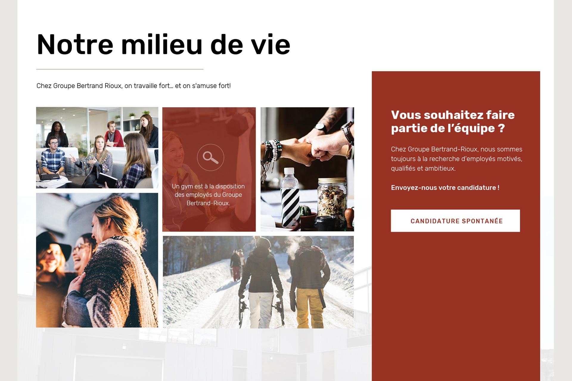 Design web d'un site web de constructeur