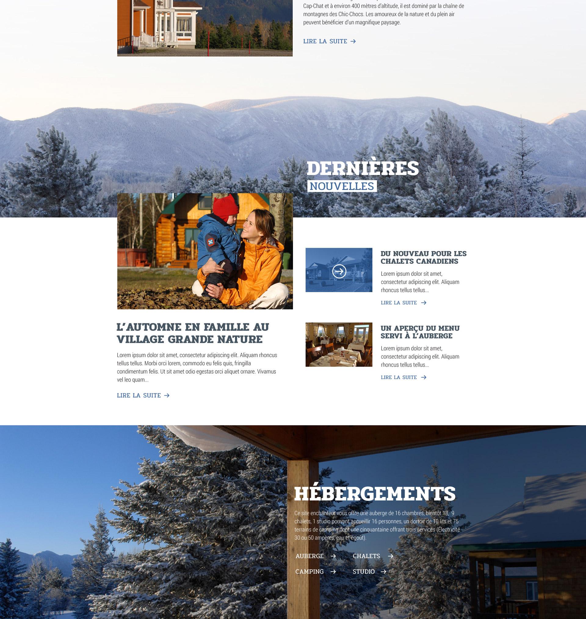 Design web d'un site web de tourisme gaspésien