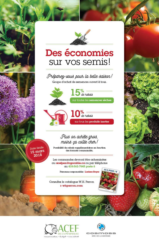 Conception d'une affiche «Des économies sur vos semis!»