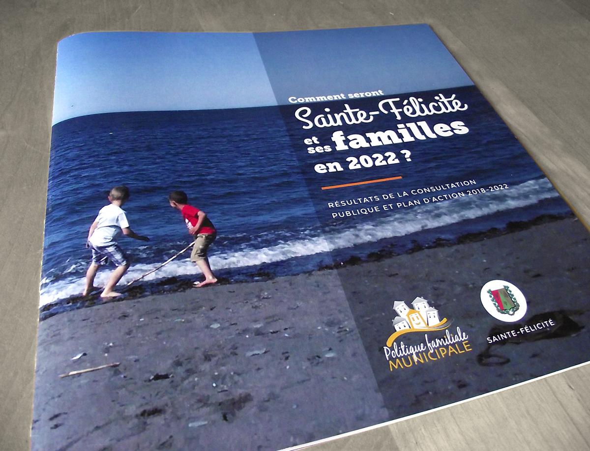 Conception des documents portants sur les politiques familiales municipales de la MRC de la Matanie