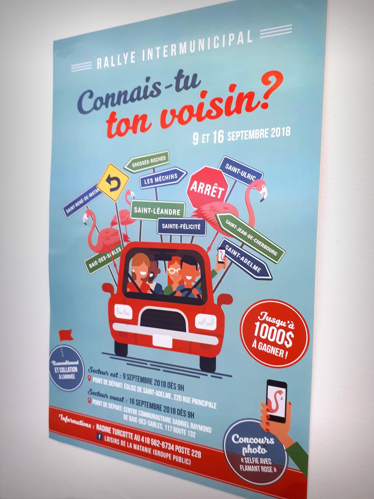 Conception d'une affiche «Rallye intermunicipal»