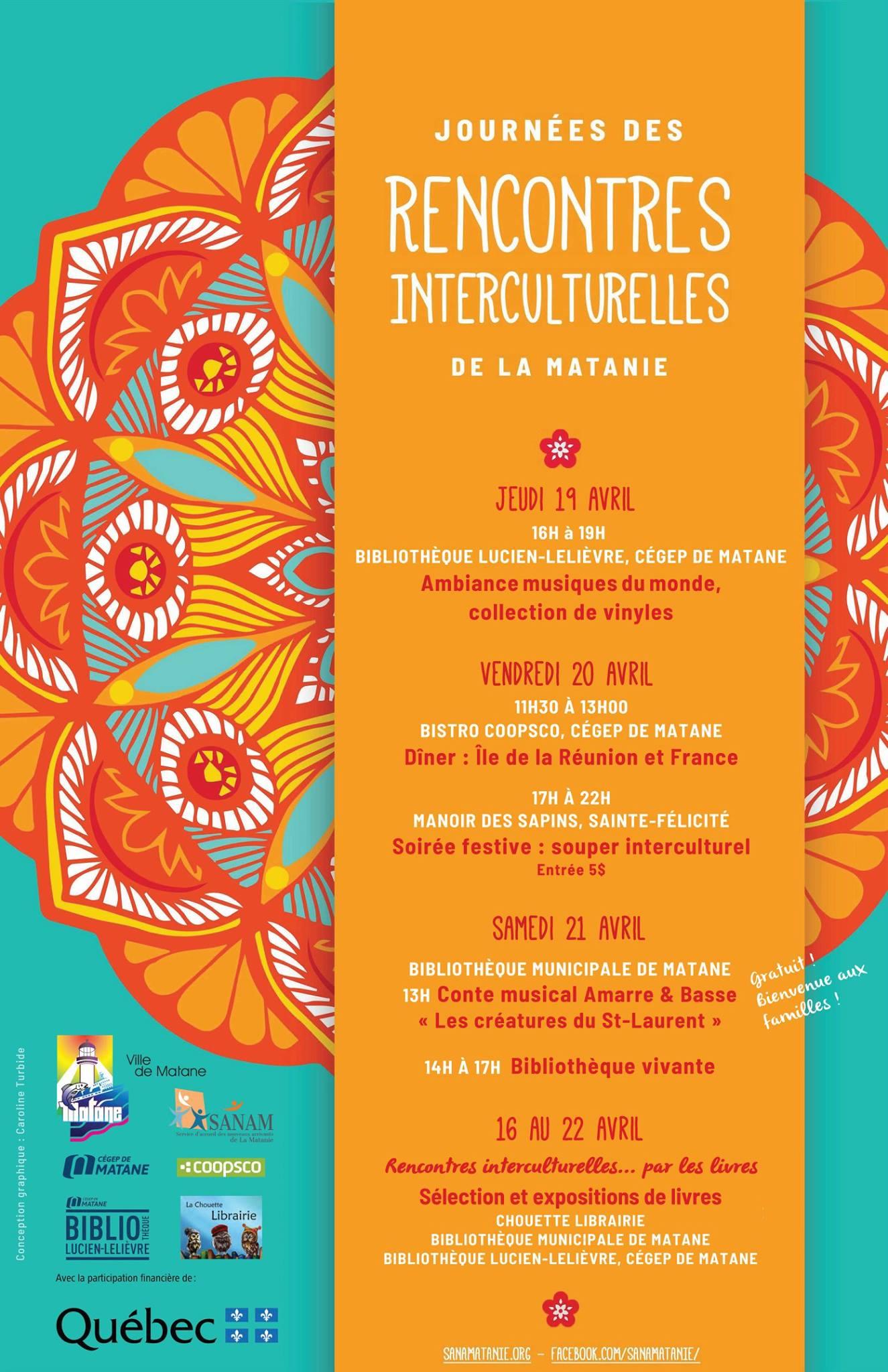 Design de l'identité visuelle des Journées des rencontres interculturelles de la Matanie
