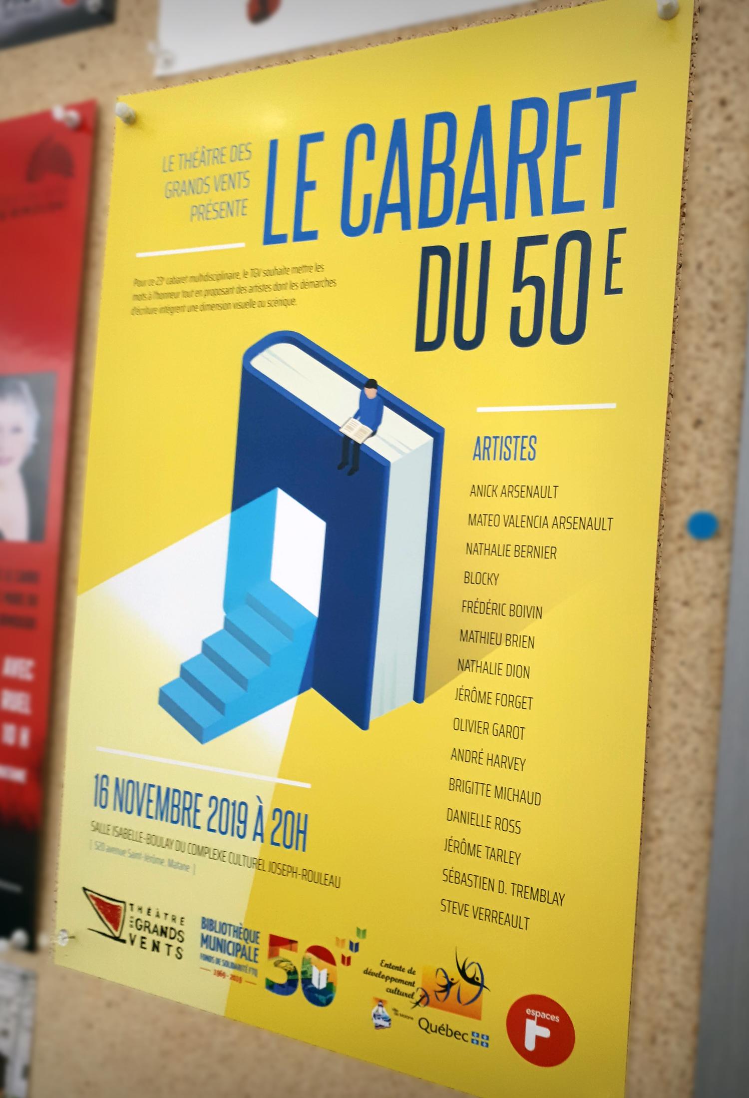 Conception d'une affiche pour la soirée Le cabaret du 50e
