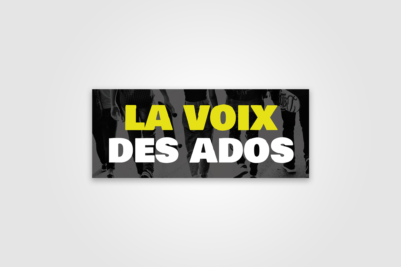 Conception du logo La Voix des Ados