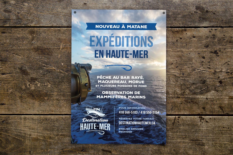Conception de l'identité visuelle de Destination Haute-Mer