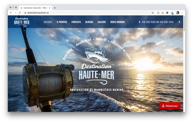 Conception et intégration du site web destinationhautemer.ca
