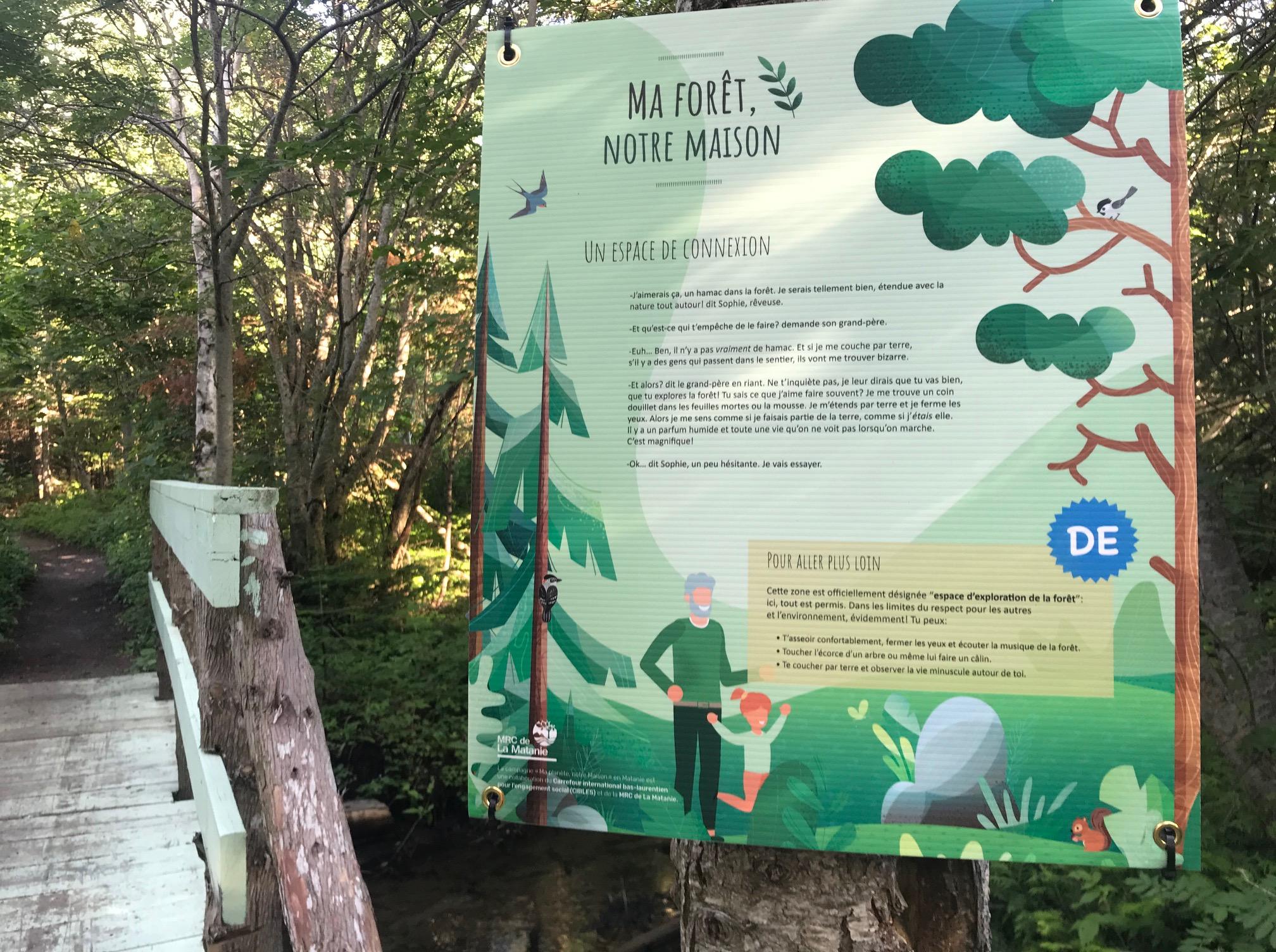 Conception de panneaux informatifs pour la campagne «Ma forêt, notre maison»