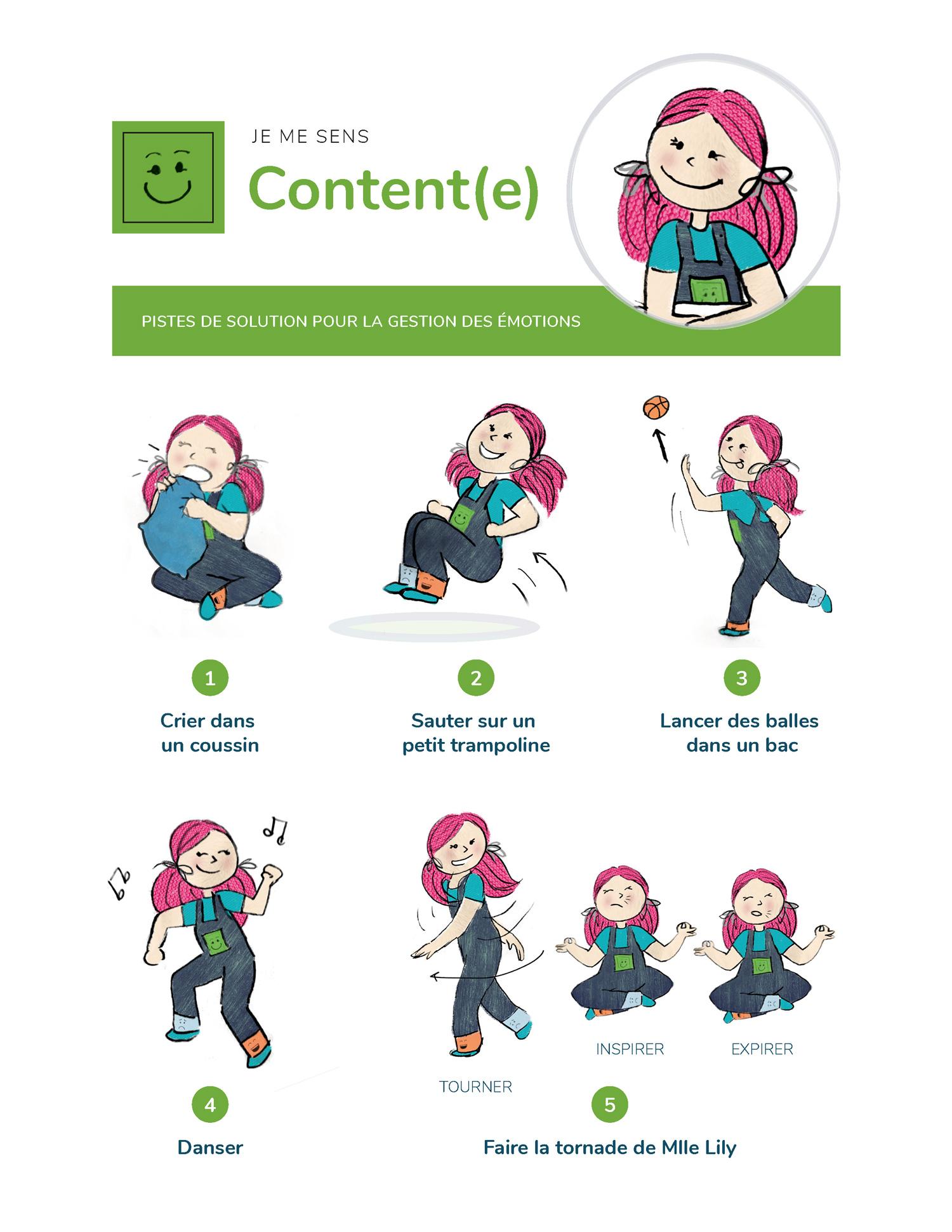 Mlle Lily - affiche à propos de l'émotion «Content(e)»