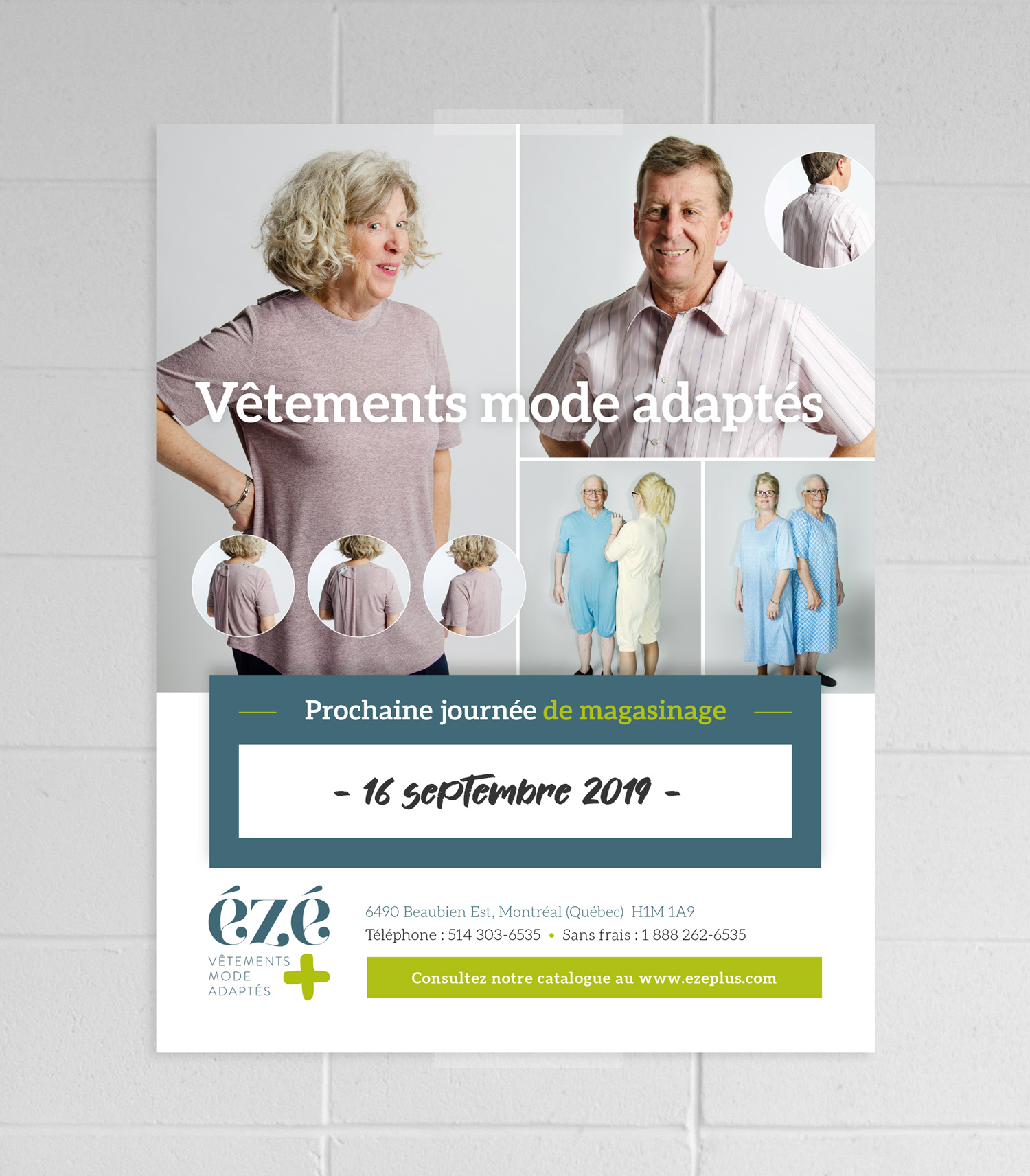 Conception d'une affiche pour Mode Ézé plus