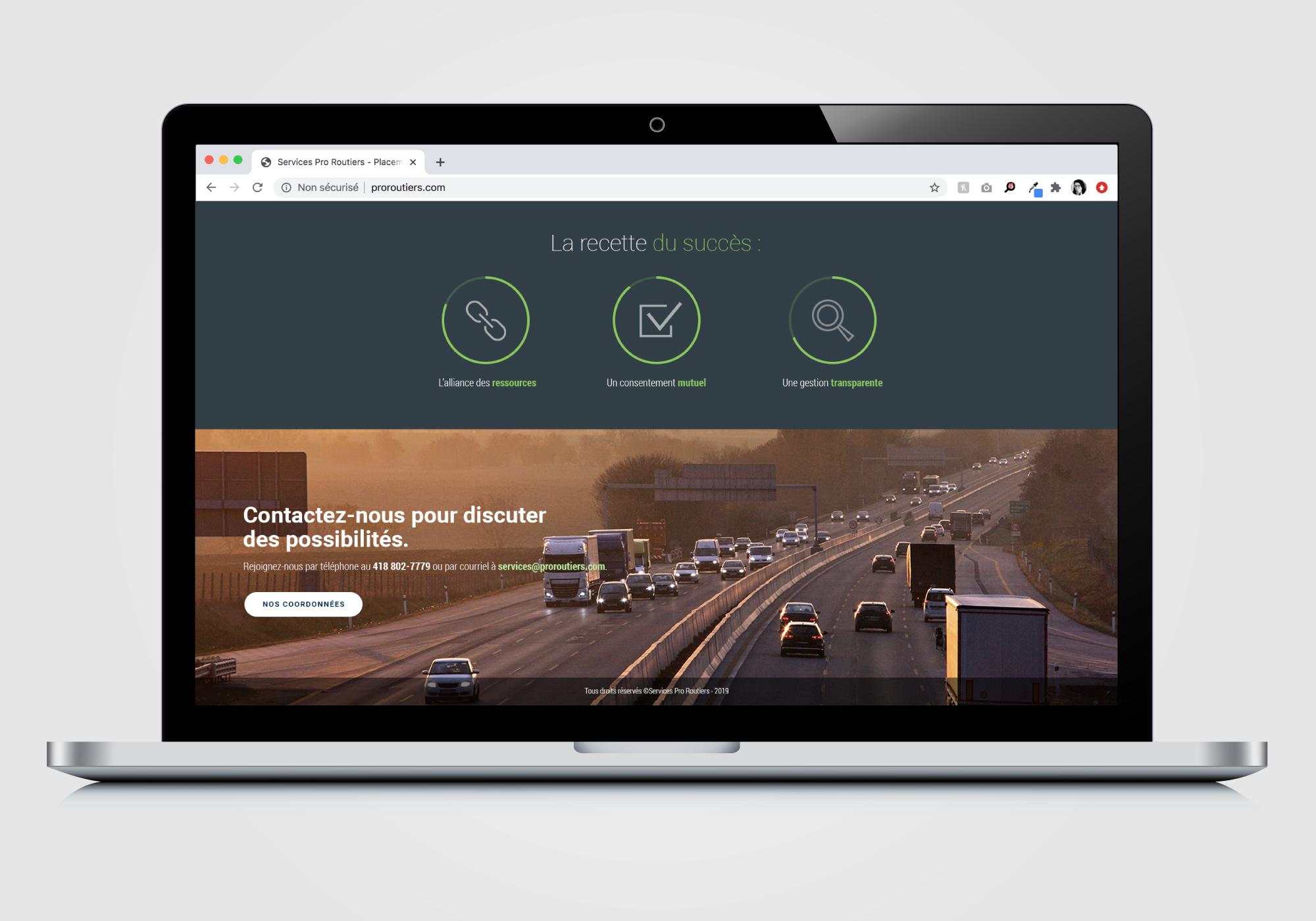 Conception et intégration d'un site web de type landing page