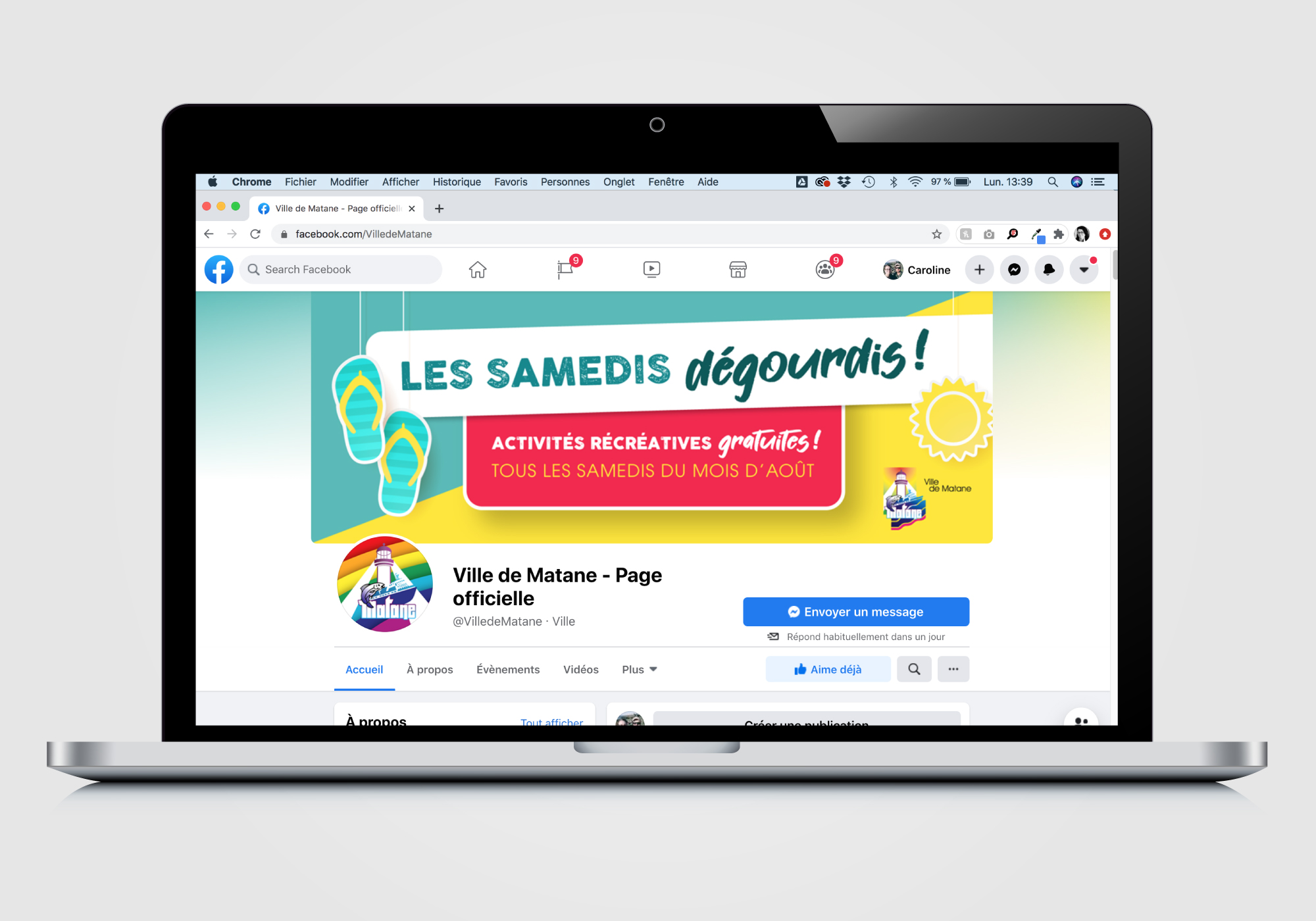 Conception de visuels de publications Facebook