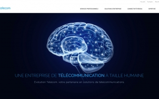 Design d'interface web – télécommunications
