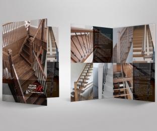 Dépliant corporatif – fabricant d'escaliers